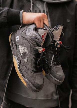 Nike air jordan retro 5 x off white🆕 шикарные кроссовки найк 🆕...