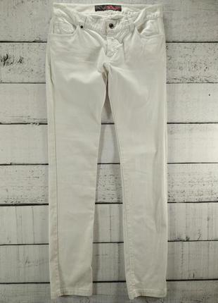 Джинсы белые с низкой посадкой tom tailor