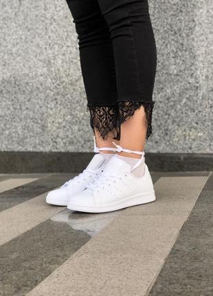 Белые женские кроссовки adidas stan smith