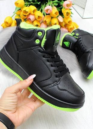 Детские высокие зимние кроссовки