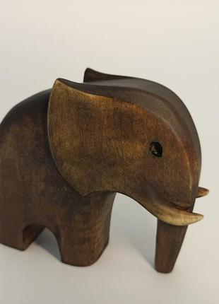 Статуетка слоника, 9 см., ручна робота з дерева, подарунки, сл...