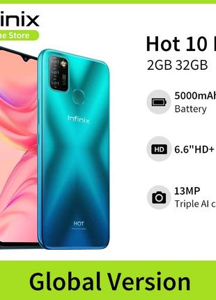 """Смартфон Infinix Hot 10 Lite 2/32 ГБ, Helio A20,6,6"""", гарантия."""