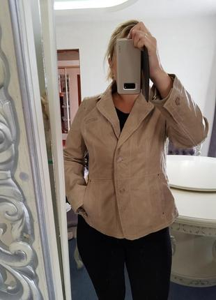 Кожаный пиджак,жакет miss etam