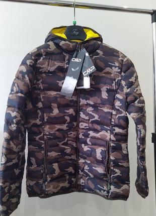 Новый ultralight пуховик cmp, италия куртка на пуху 90% камуфляж