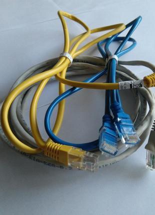 Патч-корд Ethernet RJ45 / Серый / Синий / Желтый