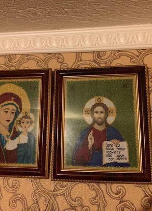 Иконы Христос Спаситель и Казанская Пресвятая Богородица
