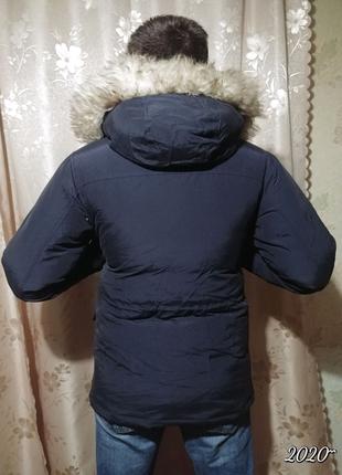 Пуховик 48-50 зимний на утке. теплый. мужской. мужская куртка