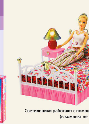 Мебель для кукол Барби Gloria Глория, Спальня со светом.
