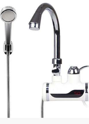 Проточный кран-водонагреватель с душем и дисплеем Delimano (подкл