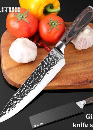 Нож шефа дамасская сталь поварской Кухонный ніж повара Японский