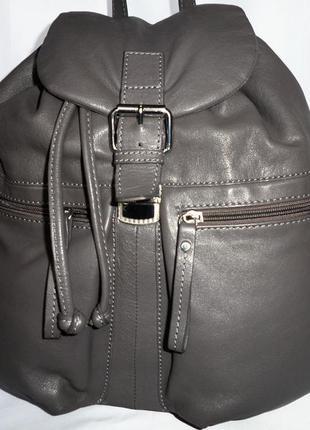 Шикарный большой городской рюкзак натуральная кожа maddison