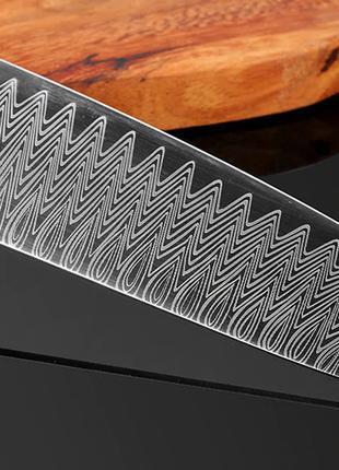 Нож шефа дамасская сталь поварской Кухонный ніж повара Японский 2