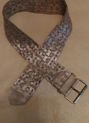 Пояс для верхней одежды, натуральная кожа