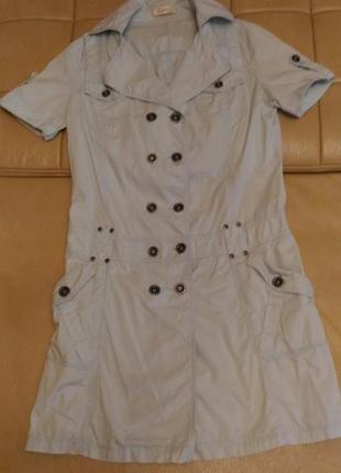 Летнее лёгкое платье нежно-голубого цвета, р.xl