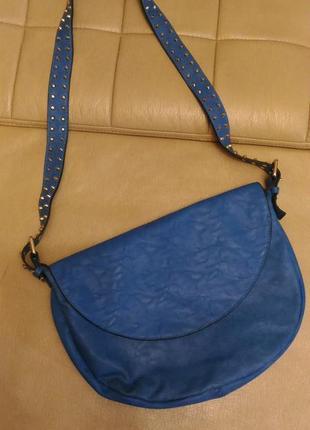 Большая сумка цвета ультрамарин