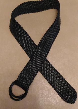 Пояс чёрный, ремень для верхней одежды
