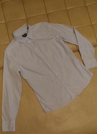 Рубашка marc o'polo  белая в голубую полоску, р.40