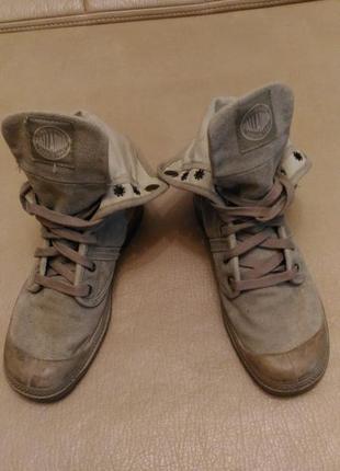 Кеды, ботинки palladium, р. 37,5 , хаки