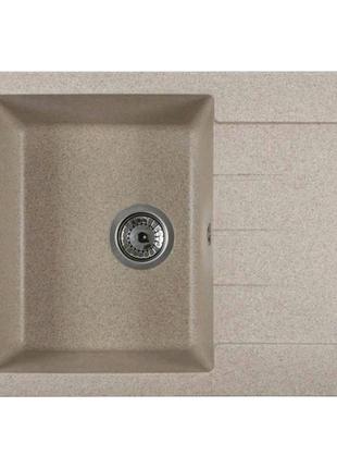 Каменная кухонная мойка Ventolux SILVIA (BROWN SAND) 620x500x200