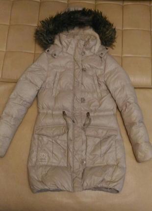 Пуховик , куртка парка clockhouse пудрового цвета, германия, р.l