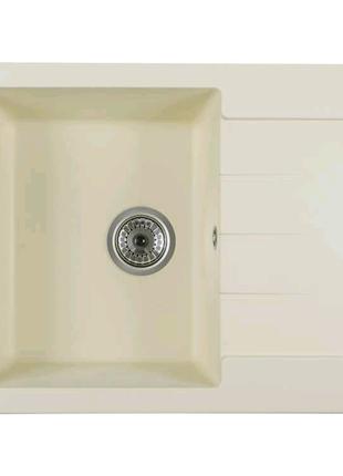 Кухонная гранитная мойка Ventolux SILVIA (crema) 620x500x200