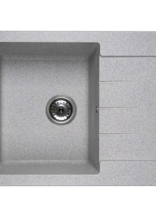 Кухонна гранітна мийка Ventolux SILVIA (grey granit) 620x500x200