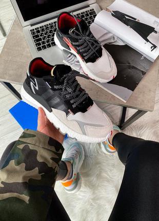 Кроссовки мужские adidas nite jogger 3m core black crystal white