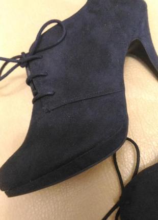 Туфли graceland тёмно-синие под замш, р.41