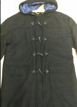 Пальто осень/весна с капюшоном цвет - чёрный размер l
