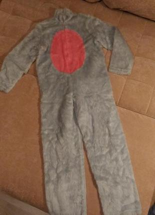 Карнавальный костюм обезьянки, кигуруми, искусственный мех, 10...