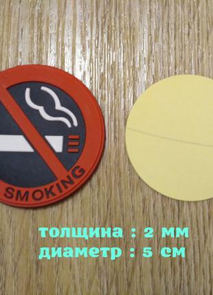 Наклейка в авто салон Не курить Красная