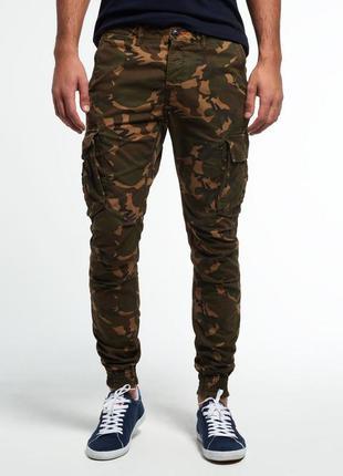 Superdry rookie cargo camo штаны карго оригинал (s - w30)