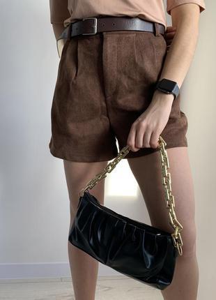 Сумка клатч, сумка с цепью, чорная сумка, маленькая сумка, чер...