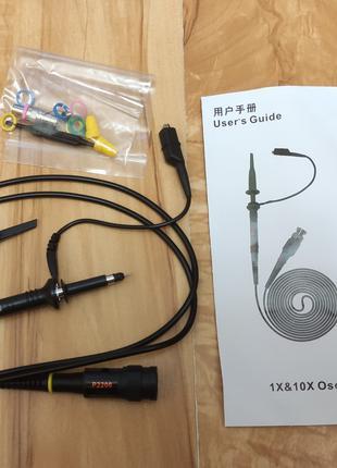 Щуп P2200 к осциллографу на 200 MHz с делителем 1:1/1:10