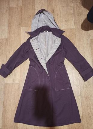 Стильное пальто плащ а-трапеция