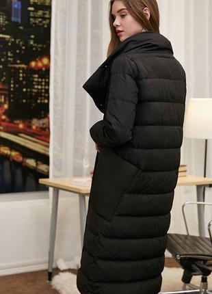 🔥пуховое пальто / черный длинный пуховик  90% натуральный пух ...