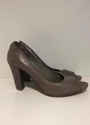 Туфли босоножки на каблуке натуральная кожа marc o polo