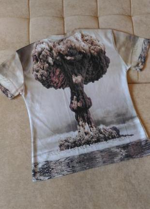 Крутая футболка с 3d принтом, размер l, xl/ 14