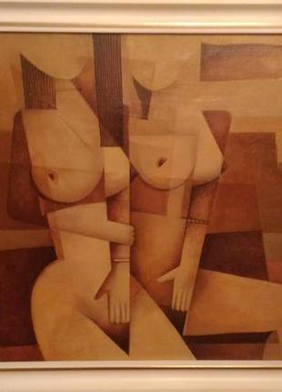 Картина, масло, холст , размер 65*50, багет 5см