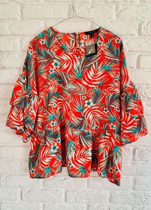 Новая блуза блузка в цветочный принт, размер xl