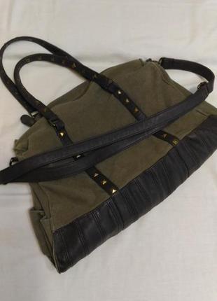 Большая сумка защитного цвета