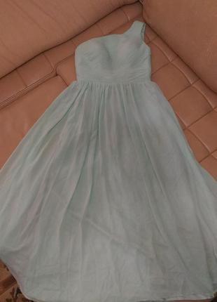 Шифоновое вечернее, свадебное, выпускное платье, р.14