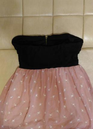 Шифоновое платье с принтом - фламинго, р.10-12
