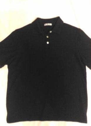 Женская футболка поло чёрного цвета, р.18 ( 52-54)