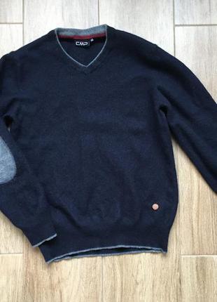 Шерстяной фирменый модный полувер свитер cmp
