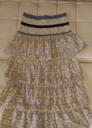 Кружевная юбка в пол almatrichi, испания, р.12-14