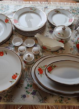 Сервиз столовый, Коростень, не полный,36  предметов. Все целые