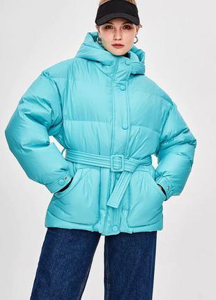 🔥пуховая куртка! 🔥 очень теплый зимний пуховик! натуральный пу...