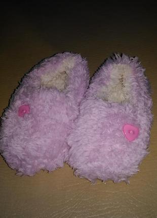 Мягкие, тёпленькие тапочки нежного розового цвета