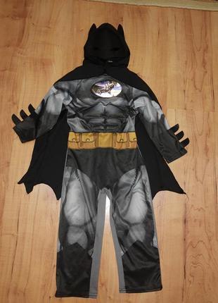 Карнавальный костюм детский супергероя бэтмен/batman с мускулами